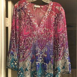 Fun and colorful Avenue top with sparkles!! 😍